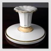 Candlestick White with Gilted edge, Royal Copenhagen
