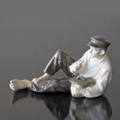 Shepherd Boy eating his lunch, Royal Copenhagen figurine