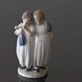 Girls with doll going to bed, Royal Copenhagen figurine