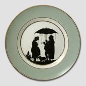 Royal Copenhagen Silhouette plate The Swineherd