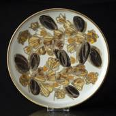 Faience dish with flower motif by Ellen Malmer, Royal Copenhagen