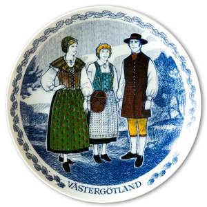 Swedish Folk Costumes No. 6 Västergötland | Year 1977 | No. RAFD06 | DPH Trading