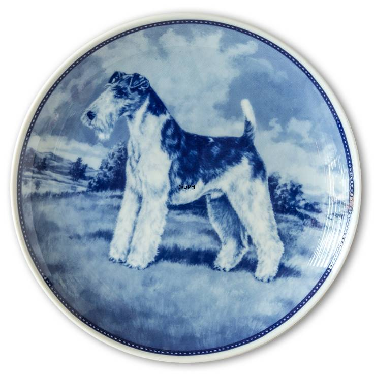 Ravn dog plate no. 23, Wire Fox Terrier | No. rah023 | DPH Trading