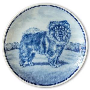 Ravn dog plate no. 27, Chow Chow