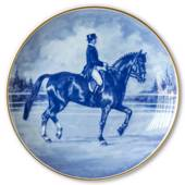 Ravn horse sports plate no. 1, Dressage - Ulla Haakansson riding Elymus