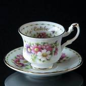 Royal Albert MINIATURE Monthly Cup with Flowers October Cosmos