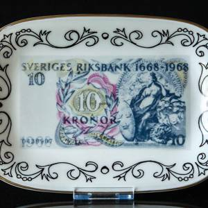 Ravn Swedish Banknotes Plate No. 7 Ten kroner Swedens Central Bank 300th Anniversary 1968 | No. RAS07 | DPH Trading