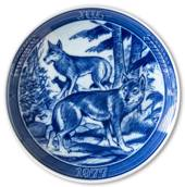 "1977 Ravn Christmas plate in the series ""Swedish Christmas"", Fox"