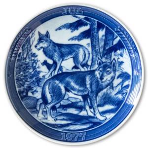 1977 Ravn Christmas plate in the series Swedish Christmas , Fox | Year 1977 | No. RASX1977 | DPH Trading