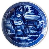 "1979 Ravn Christmas plate in the series ""Swedish Christmas"", fallow deer"