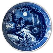 "1982 Ravn Christmas plate in the series ""Swedish Christmas"", Badger"