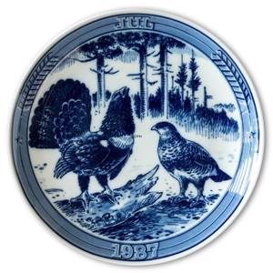 1987 Ravn Christmas plate in the series Swedish Christmas , capercaillie | Year 1987 | No. RASX1987 | DPH Trading