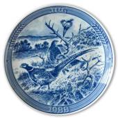 "1988 Ravn Christmas plate in the series ""Swedish Christmas"", Pheasant"
