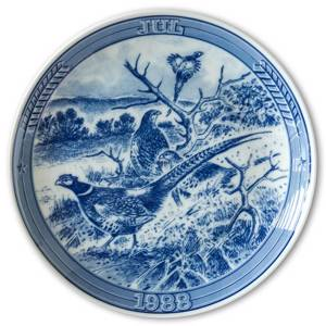 1988 Ravn Christmas plate in the series Swedish Christmas , Pheasant | Year 1988 | No. RASX1988 | DPH Trading
