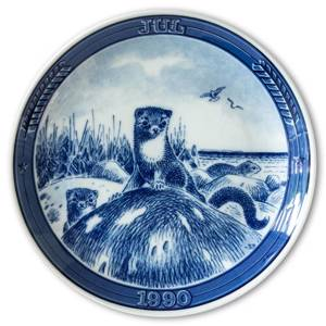 "1990 Ravn Christmas plate in the series ""Swedish Christmas"", Stoat"
