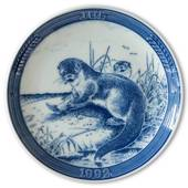 "1993 Ravn Christmas plate in the series ""Swedish Christmas"", Otter"