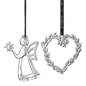 Karen Blixen Christmas, Leaf heart and angel fairy, silver-plated | Year 2016 | No. RD31478 | Alt. 31478 | DPH Trading