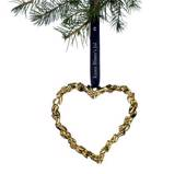 Karen Blixen Christmas, Heart, small, gold-plated