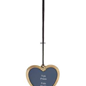 Karen Blixen Christmas, Heart picture frame  gold-plated