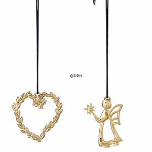 Karen Blixen Christmas, Leaf heart and angel fairy, gold-plated | Year 2016 | No. RD32478 | Alt. 32478 | DPH Trading