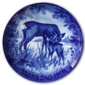 1979 Royal Heidelberg Mother's Day plate, Deer with kid