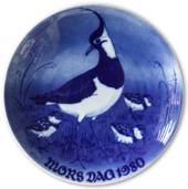 1980 Royal Heidelberg Mother's Day plate, Northern Lapwing with chicks