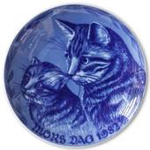 1982 Royal Heidelberg Mother's Day plate, Cat with Kitten