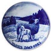1983 Royal Heidelberg Mother's Day plate, Sheep with Lamb