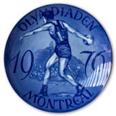 The Montreal Olympics 1976, plate, Royal Heidelberg
