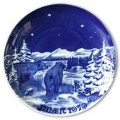 1979 Royal Heidelberg Christmas plate, Bear