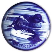 1982 Royal Heidelberg Christmas plate, Duck