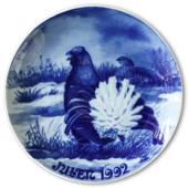 1992 Royal Heidelberg Christmas plate, Grouse