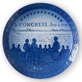 1776-1976 Royal Copenhagen Jubilee plate, Commemorates the Bicentennial of ...