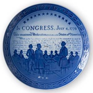 1776-1976 Royal Copenhagen Jubilee plate, Commemorates the Bicentennial of The United States of America. | Year 1976 | No. RJ1976 | Alt. KJ760 | DPH Trading