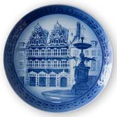 1980 Jubilee plate, Royal Copenhagen, Amager Square, 200 anniversary of RC'...