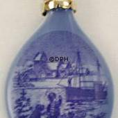 1998 Royal Copenhagen Ornament, Christmas Drop
