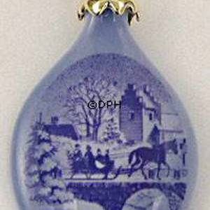 1999 Royal Copenhagen Ornament, Christmas Drop | Year 1999 | No. RJD1999 | Alt. 1199705 | DPH Trading