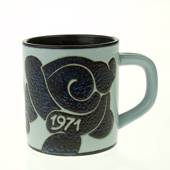 1971 Annual Mug, small, Royal Copenhagen