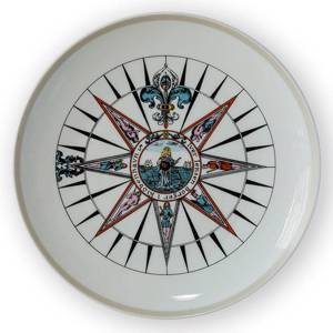 1970 Royal Copenhagen Compass plate, | Year 1970 | No. RKP1970 | DPH Trading