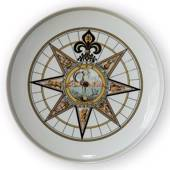 1971 Royal Copenhagen Compass plate,
