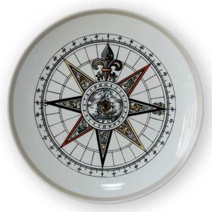 1972 Royal Copenhagen Compass plate, | Year 1972 | No. RKP1972 | DPH Trading