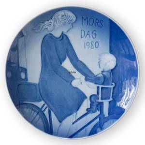 1980 Royal Copenhagen Mothers Day plate, Motherhood | Year 1980 | No. RM1980 | Alt. KM800 | DPH Trading