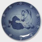 1984 Royal Copenhagen Mother and Child plate, mare with foal