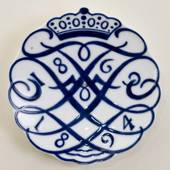 1869-1894 Royal Copenhagen Memorial plate