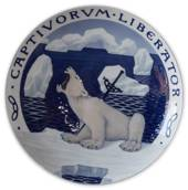 1899 Royal Copenhagen Odd Fellow Memorial plate, CAPTIVORUM LIBERATOR