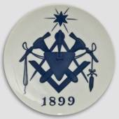 1899 Royal Copenhagen Memorial plate, Free Masons