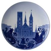 1904 Royal Copenhagen Memorial plate, Ribe Cathedral