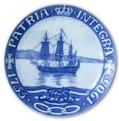1755-1905 Royal Copenhagen Memorial plate, PATRIA INTEGRA