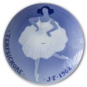 1908 Royal Copenhagen Memorial plate, TERPSICHORE