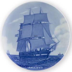 1909 Royal Copenhagen Memorial plate, The frigatte, Jylland | Year 1909 | No. RNR098 | Alt. no. 98 | DPH Trading